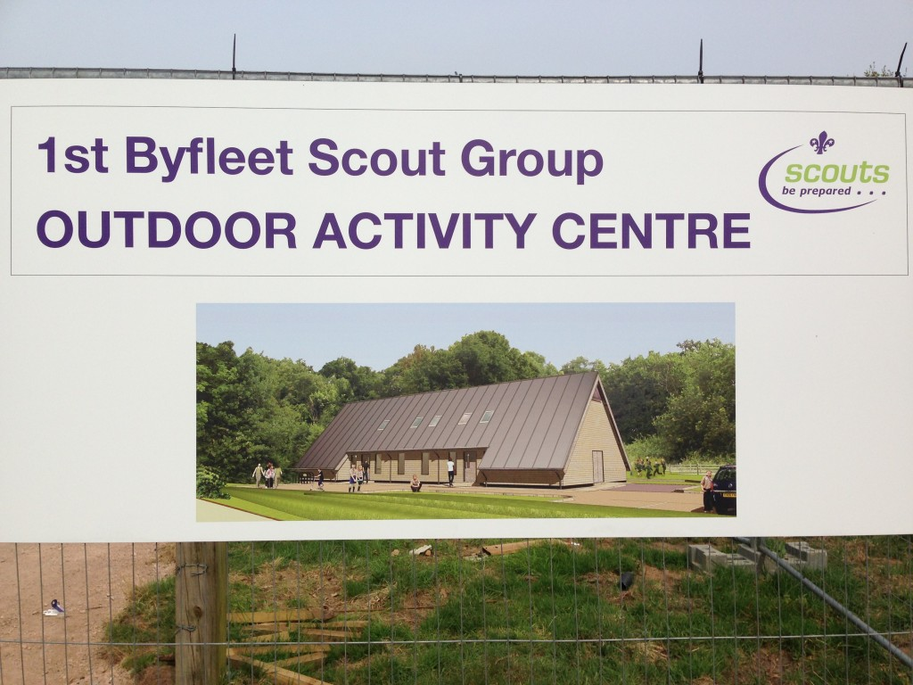The New Byfleet Activity Centre Build, Murray Lane.